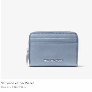 Michael Kors Coin Card Wallet- Pale Blue